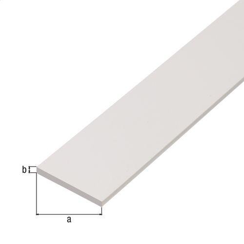GAH Alberts platprofiel kunststof wit 1 m x 3 cm