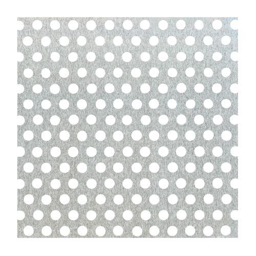 Tôle GAH Alberts aluminium perforé gris 50 x 25 cm x 0,8 mm