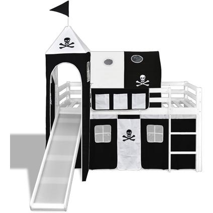 Hoogslaper Piraat met ladder en glijbaan (wit)