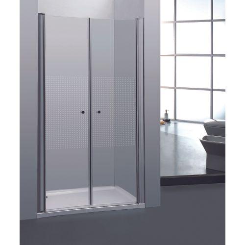 2 portes de douche pivotantes Allibert Priva 80x190cm petits carrés