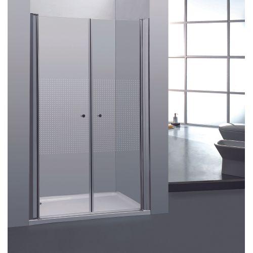 2 portes de douche pivotantes Allibert Priva 90x190cm petits carrés