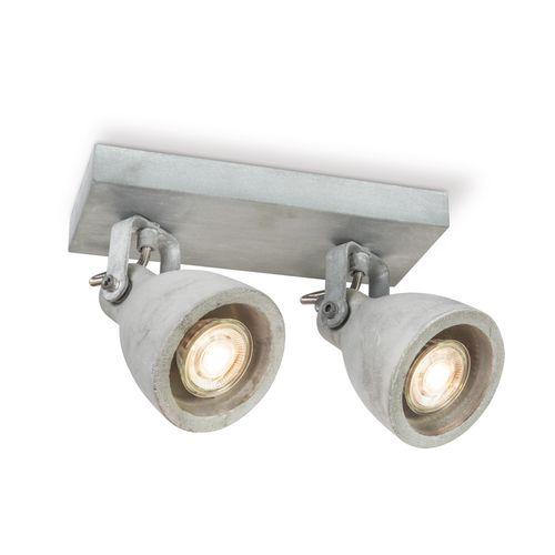 Home Sweet Home spot LED Vedi gris 2x5,8W