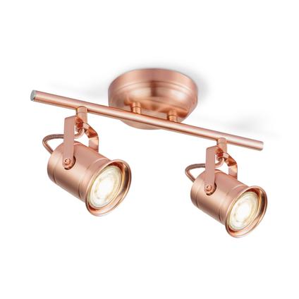 Home Sweet Home spotlamp 'Venn' koper 2x5,8W