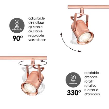 Home Sweet Home spotlamp 'Venn' koper 4x5,8W