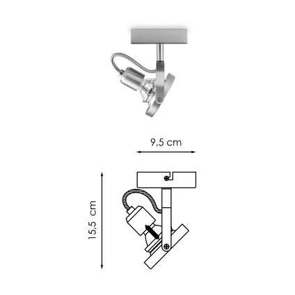 Home Sweet Home spotlamp 'Yaya' mat staal 5,8W