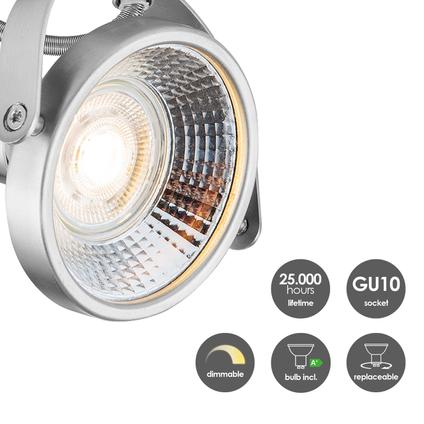 Home Sweet Home spotlamp 'Yaya' mat staal 3x5,8W