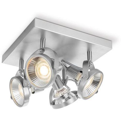 Home Sweet Home spotlamp 'Yaya' mat staal 4x5,8W
