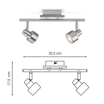 Home Sweet Home spot LED Drift mat staal 2x5,8W