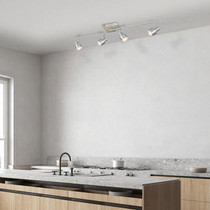 Home Sweet Home spot LED Drift mat staal 4x5,8W