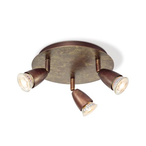 Home Sweet Home spot LED Curl bronze Ø22cm 3x5,8W