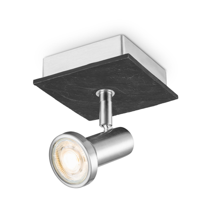 Home Sweet Home spot LED Stone mat staal 5,8W