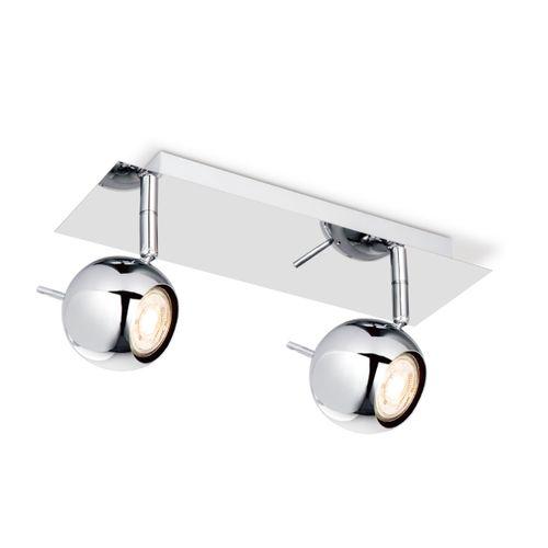 Home Sweet Home spot LED Bollo chroom 2x5,8W