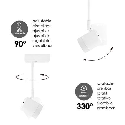 Home Sweet Home spot LED Manu wit 25cm 5,8W