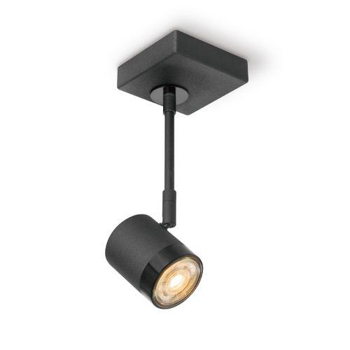 Home Sweet Home spotlamp 'Manu' zwart 25cm 5,8W