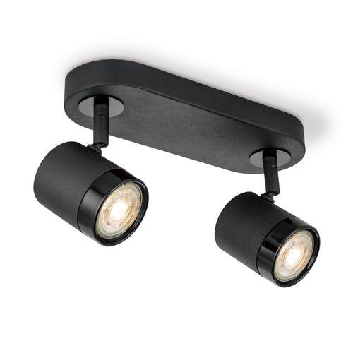 Home Sweet Home spot LED Manu zwart 2x5,8W