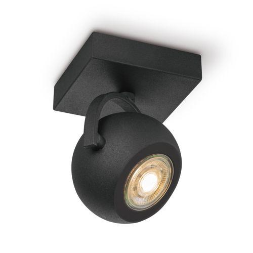 Home Sweet Home spot LED Nop zwart 14cm 5,8W