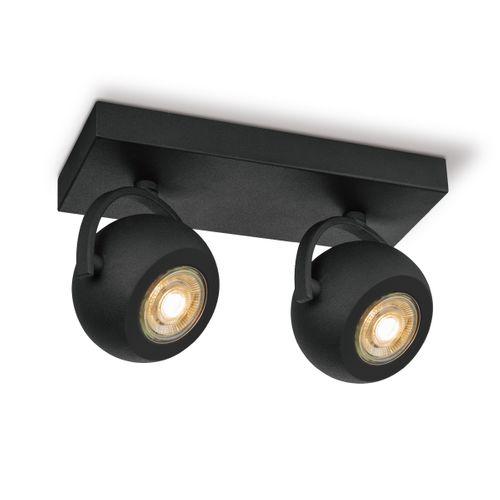 Home Sweet Home spot LED Nop zwart 2x5,8W