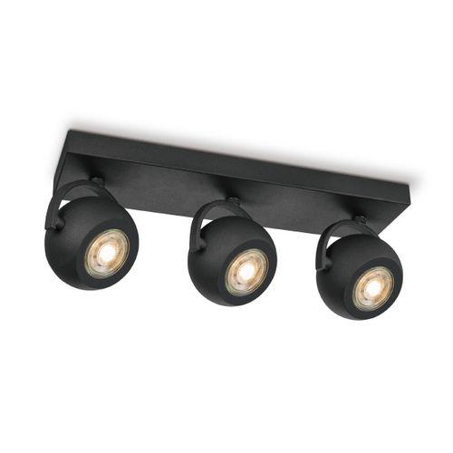 Home Sweet Home spot LED Nop zwart 3x5,8W