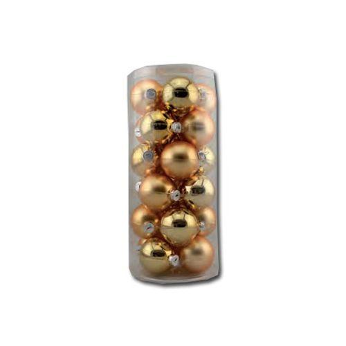 Set boules de Noël Decoris doré 60 mm 24 pcs