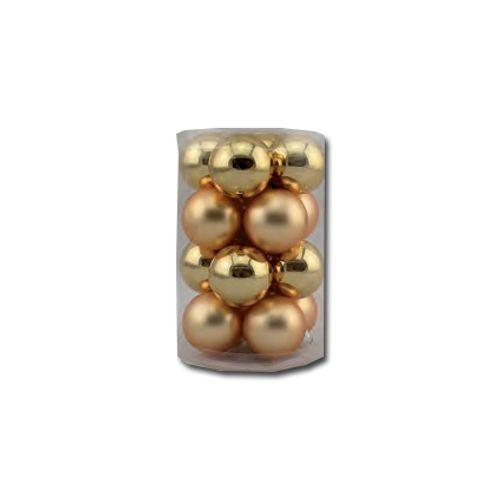 Set boules de Noël Decoris doré 35mm 16 pièces