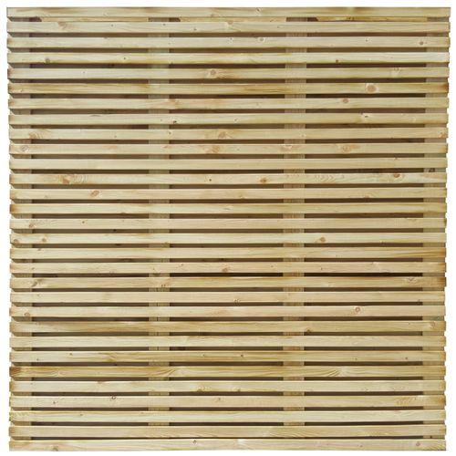 Ecran de jardin droit 'Fino' pin brun 180 x 180 cm