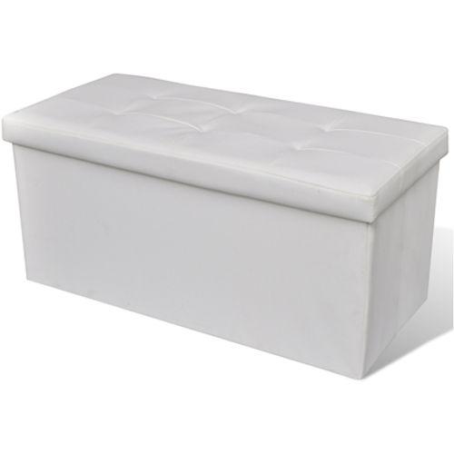 Bankje met opslag wit
