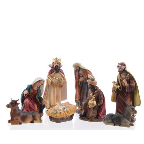 Beeldje voor Kerststal 12 cm - 7 stuks