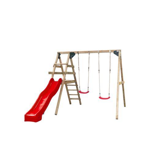 Aire de jeu SwingKing  avec balançoire Celina 280x330x245cm rouge