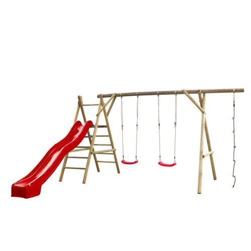 SwingKing schommel Noortje 375x450x220cm rood