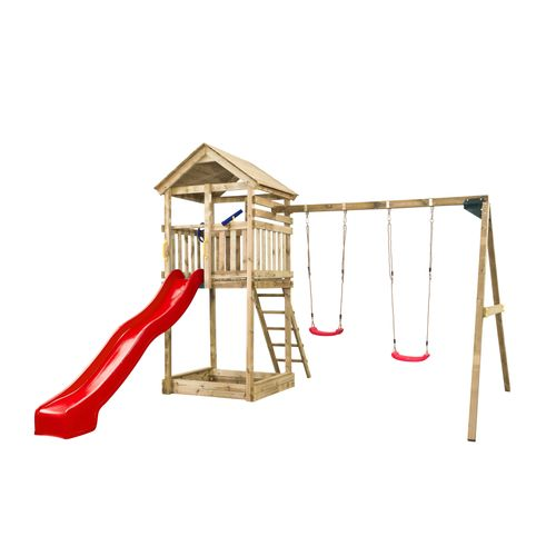 SwingKing  speeltoren  Daan met rode glijbaan