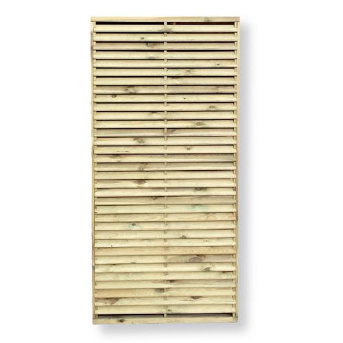 Tuinscherm recht 'Louvre' grenenhout bruin 90 x 180 cm