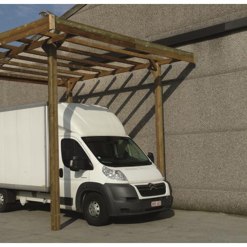 Solid carport 'S7761' hout 15 m²