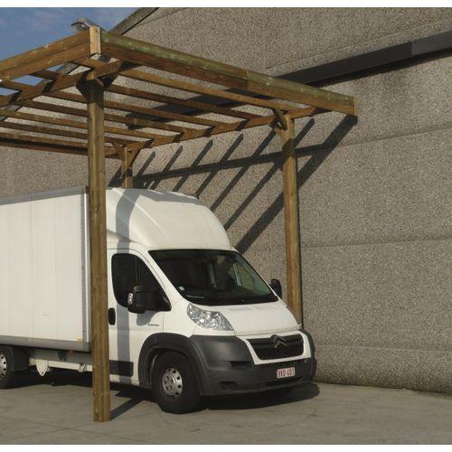 Solid carport 'S7762' hout 20 m²