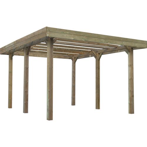 Solid carport 'S7764' hout 30 m²