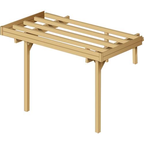 Solid carport extensie 'S7765' hout 6 m²