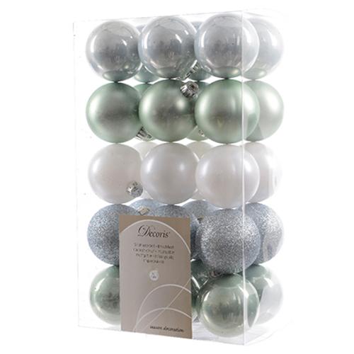 Set boules de Noël Decoris Misty lake 60mm 30 piéces