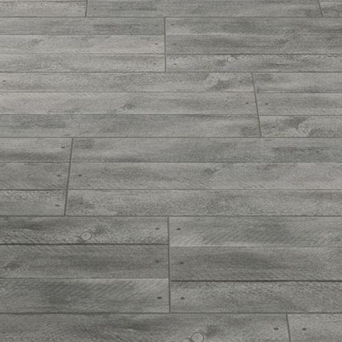 Carrelage sol terrasse 'Doghe' effet bois brun 30,5 x 61 cm