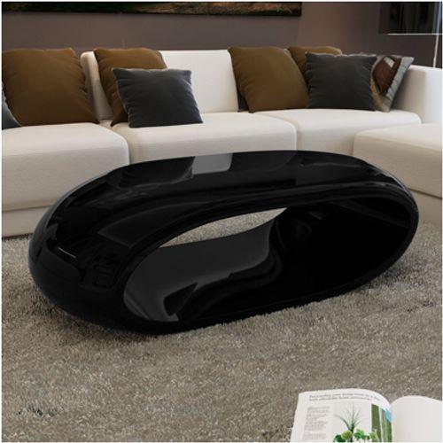 Salontafel hol design zwart