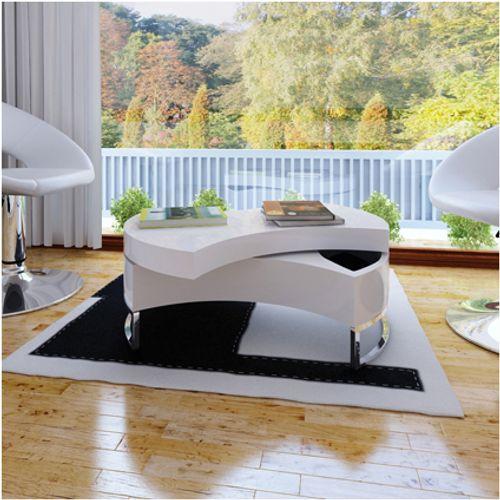 Salontafel draaibaar design wit
