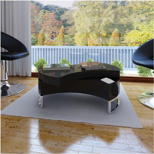 Salontafel draaibaar design zwart