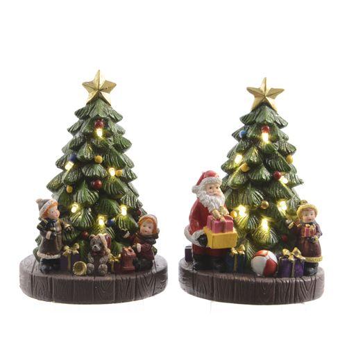 Kerstfiguur Kerstboom LED warm wit 16cm