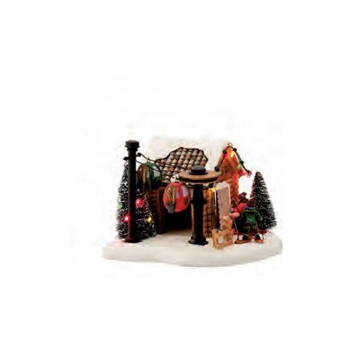 Figurine Luville maisonnette 'Waiting for skilift' 23 x 12 x 18 cm