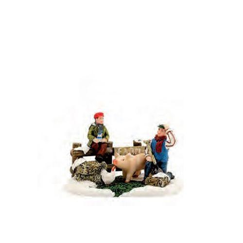 Figurine Luville animaux de la ferme 10,5 x 6,5 x 7 cm