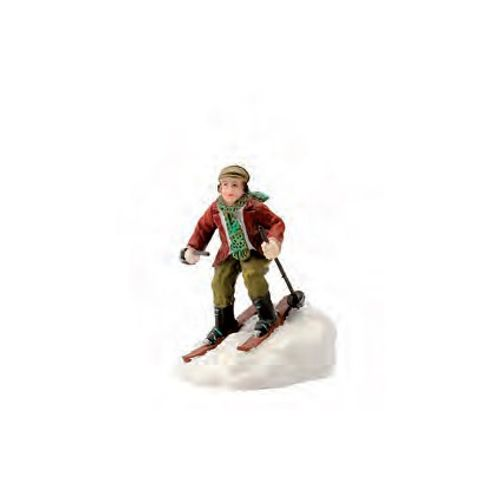 Figurine Luville skieur 4,5 x 6,5 x 4,5 cm