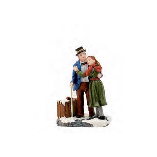 Luville beeldje 'Elsie en Pieter' 5 x 7,5 x 3,5 cm