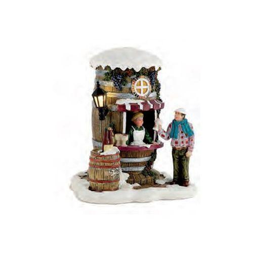 Figurine Luville dégustation de vin 9 x 11 x 9 cm