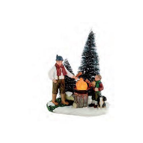 Figurine Luville 'Forest Barbecue' 8 x 10,5 x 6,5 cm