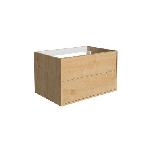 Meuble lavabo Allibert Marny 2T 80cm chêne arlington