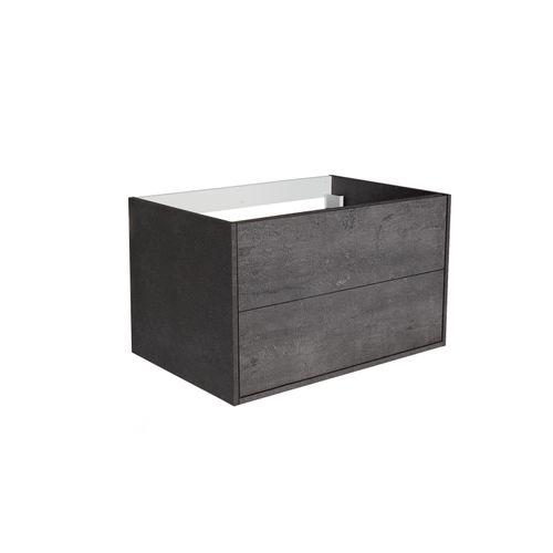 Meuble de lavabo Allibert Marny 2T 80cm béton