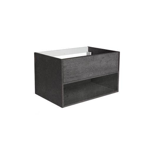 Meuble de lavabo Allibert Marny 1T 80cm béton
